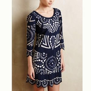 Anthropologie Kerala Embroidered Shift Dress